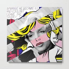 """Roy Lichtenstein's """"M-Maybe"""" & M.M. Metal Print"""