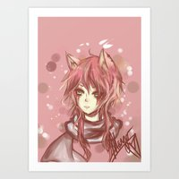 leon Art Prints featuring Leon by MilkNCreams
