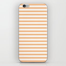 Bright Orange Russet Mattress Ticking Wide Striped Pattern - Fall Fashion 2018 iPhone Skin