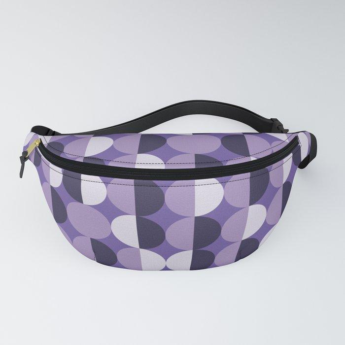 Retro circles grid purple Fanny Pack