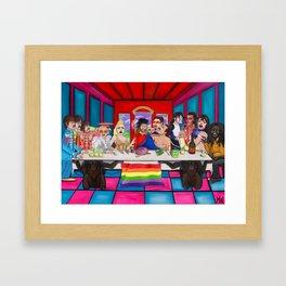 The Rockstars Last Supper Framed Art Print