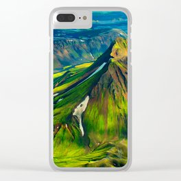 Green Landscape Clear iPhone Case