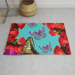 More Roses and Butterflies Rug
