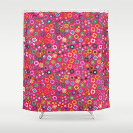 dp065-6 floral pattern Shower Curtain