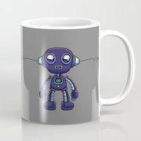 android Mugs featuring Purple Android by Richtoon