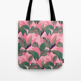 Retro Luxe Lilies Pink Tote Bag