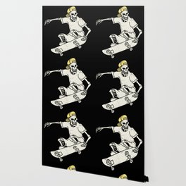 Vintage Skateboarding Skeleton Wallpaper