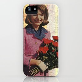 Handmade Collage, Jackie O iPhone Case