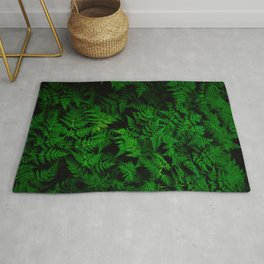Deep Forest Ferns Rug