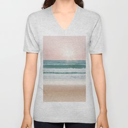 Pastel Beach and Sea Vibes Unisex V-Neck