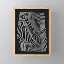 Minimal curves black Framed Mini Art Print