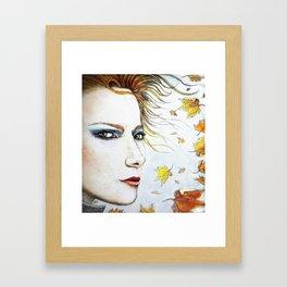 Autumn Freckles Portrait Framed Art Print