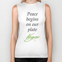 Peace begins on our plate - Vegan Biker Tank