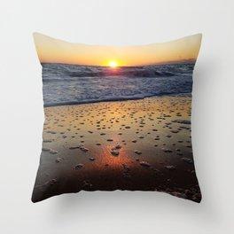 Off-Season Sunrise Throw Pillow