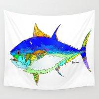 marine Wall Tapestries featuring Marine Life by Rafael Salazar