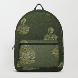 buddha gold painted Backpack