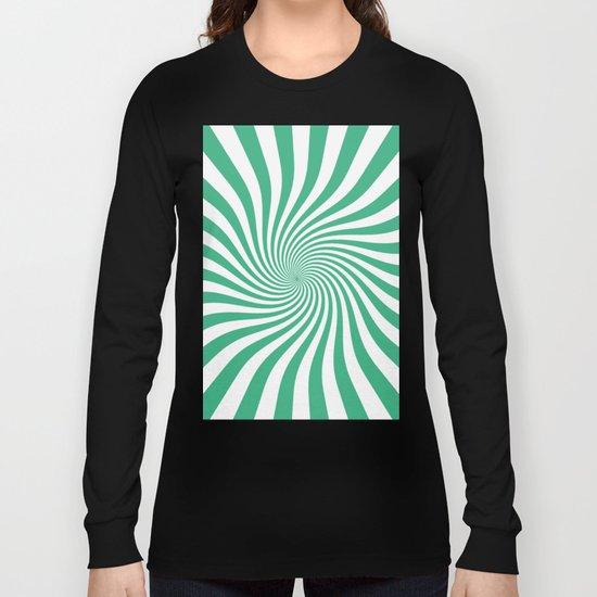 Swirl (Mint/White) Long Sleeve T-shirt