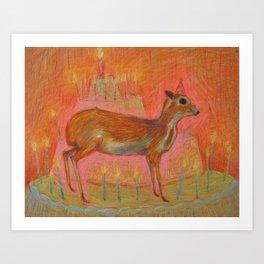Happy Birthday Mousedeer! Art Print