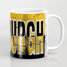Pittsburgh Steel City 412 Pride Vintage Sign Coffee Mug