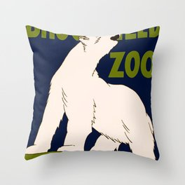 Vintage poster - Visit the Brookfield Zoo Throw Pillow