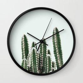 Blue Sky Cactus Wall Clock