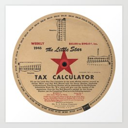 The Little Star Tax Calculator, 1946 Art Print