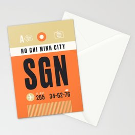 Baggage Tag A - SGN Ho Chi Minh City Vietnam Stationery Cards
