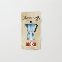 Cafe Poster: Coffee Break with Moka Hand & Bath Towel