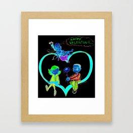 Valentine love Framed Art Print