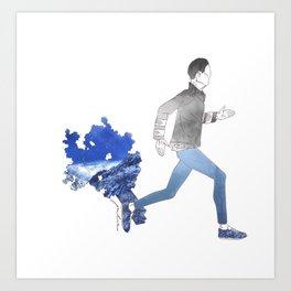 Moving art  Art Print