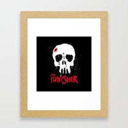 Skull and City Framed Art Print