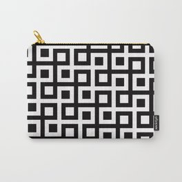 Geometric Pattern 33 (square loop) Carry-All Pouch
