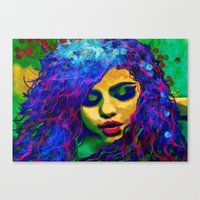 selena Canvas Prints featuring Selena (pop) by    Amy Anderson