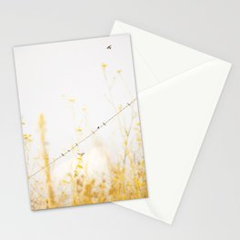 birds on a wire Stationery Cards