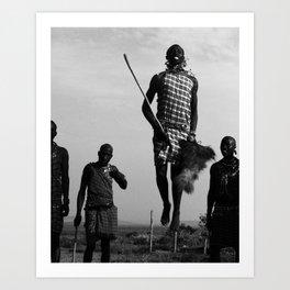 Warrior Dance pt. 2-The Hero; Nairobi, Kenya Art Print
