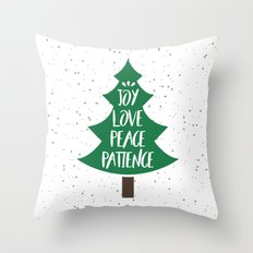 Tree of Christmas Present Throw Pillow