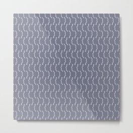 White Stems - English Meadow Collection Metal Print