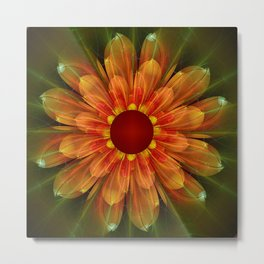Artistic fantasy succulent flower Metal Print