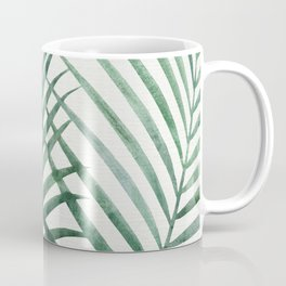 Emerald Palm Fronds Watercolor Coffee Mug