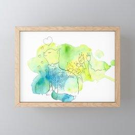 Who said meow? Framed Mini Art Print