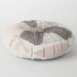 Blush Fancy Dress Floor Pillow