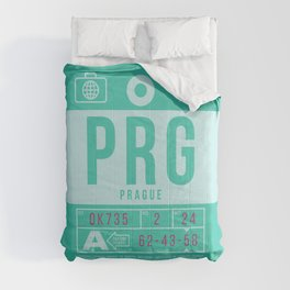 Baggage Tag B - PRG Prague Czech Republic Comforters