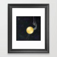 Golden Planet Framed Art Print