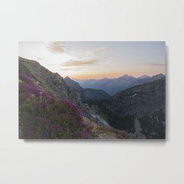 North Cascades at Sunset Metal Print