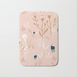 Magic Garden - Pink and Gold Bath Mat