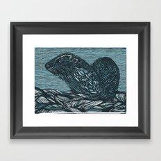 Otter! Framed Art Print