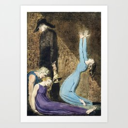 The Prophecy by William Blake Art Print