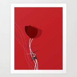 red amapola Art Print