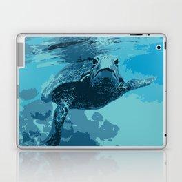 Meet me in Hawaii, sea turtle Laptop & iPad Skin