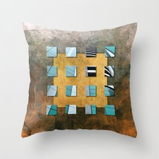 SQUARE AMBIENCE - Natural Lines Throw Pillow